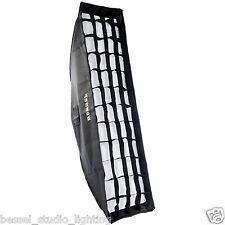 Bessel 120cm x 30cm Softbox Portrait Stripbox + diffusers+ grid Elinchrom EL-Fit