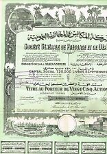 EGYPT IMPORT, EXPORT COMPANY stock certificate 25 SH