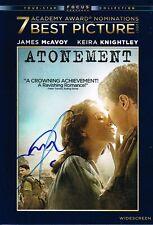 James McAvoy SIGNED Atonement DVD COA
