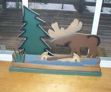 Cabin/Cottage 3D Moose Pine tree Canoe Window Table Shelf Mantel decor ornament