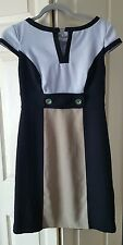 Dressbarn Colorblock office dress sz.4