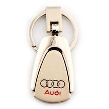 Fashion Metal Zinc Alloy Car Logo Keyring 360° Spin Key Chains Holder for Audi