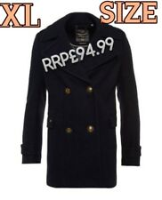 NEW RRP£94.99 XL SIZE 16 WOMENS SUPERDRY CLASSIC PEA COAT NAVY