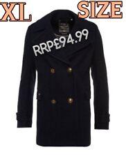 * Venta * Nuevo PVP £ 94.99 XL Tamaño Classic Pea Coat para Mujer de Superdry Azul Marino Chaqueta De Invierno