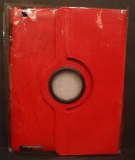 Kevenz 360 Degree Rotating Case With Back Case For iPad 2/3/4 - Red - New