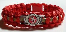 "San Francisco 49er's 8 1/2"" Paracord Bracelet FOR WRIST SIZE 7 1/2; Average Male"