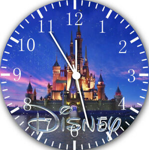 """Disney Castles wall Clock 10"""" will be nice Gift and Room wall Decor E19"""