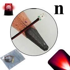 20 x 12v 0606 0603 Red Nano Flashing SMD Pre-Wired LED Light Blinking 9v 18v 6v
