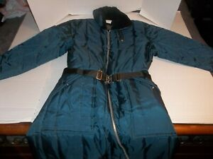 Vintage Mens Size 44 Tall Sears Work'n Leisure Blue Snowmobile Snow Suit Belted