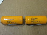 sprague atom # TVA1175-7 ELECTROLYTIC CAPACITOR  UNUSED  2 PIECE GROUP