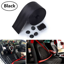 3.6M Black Harness Racing Front 3 Point Safety Retractable Van Car Seat Lap Belt