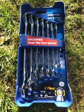 KINCROME 7 PIECE SINGLE WAY RATCHET COMBINATION SPANNER SET METRIC k3011
