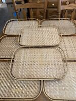 8 Bamboo Woven Rattan Wicker Serving Trays