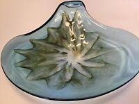 Vintage Mid-Century Modern  Hand Blown Art Glass Dish