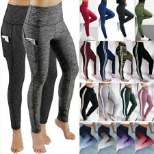 Women High Waist Yoga Pants Fitness Leggings Stretch Workout Gym Sports Trousers