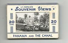 PANAMA AND THE CANAL SOUVENIR FOLDER 20 VIEWS