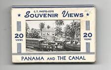 Panama And The Canal Souvenir Folder 20 Views