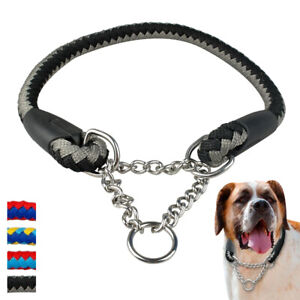 Cute Martingale Dog Collar for Medium Large Dogs Chain Collar Buckle Red Blue