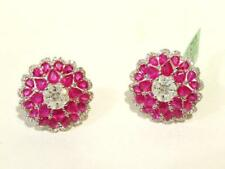 LAST DAYS!$16,315 RARE IMPORTANT 18KT LARGE 13CT RUBY & DIAMOND GOLD FLORAL RING