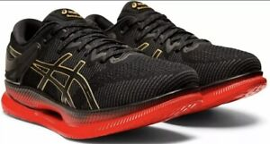 Asics MetaRide High Performance Running Shoes 1011A142 Black Red Mens Size 9.5
