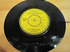 "45-HLU 9687 7"" 45RPM 1963 LITTLE EVA ""LET'S TURKEY TROT"" EX"
