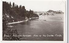Greece; View Of The Castle, Corfu RP PPC, c 1950's, Bilingual Inscription