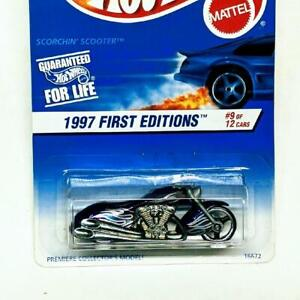 1997 Hot Wheels First Editions 9/12 Scorchin' Scooter Purple #519 New Sealed