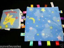 Taggies Blue Moon Stars Lovey Security Blanket + Sweet Dreams Cloth Book