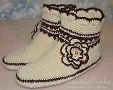 handmade womens crochet slippers, knitted socks, wool slipper socks, house shoes