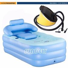 OUTDOOR INFLATABLE SPA BATH BATHTUB PORTABLE FOLDABLE BATHROOM JACUZZI HOT TUB