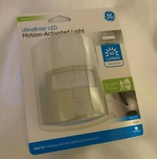 GE Silver LED Night Light,  Motion Sensor, 40 Lumens, Plug-in, Soft White