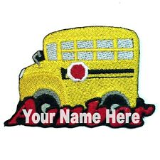 School Bus Custom Iron-on Patch With Name Personalized Free