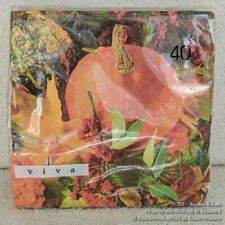 New 40 Fall Autumn Paper Napkins Assorted Pumpkins & Fall Leaves Thanksgiving