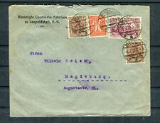 Bedarfsbrief DR Mi.-Nr. 115 MiF nach Staßfurt-Magdeburg - b7376