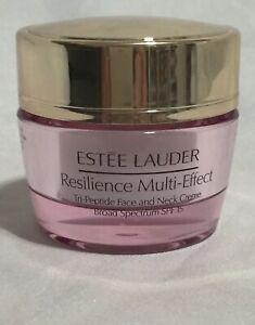 New Estée Lauder Resilience Multi-Effect Tri-Peptide Face & Neck Creme Day 0.5oz