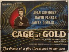 CAGE OF GOLD ORIGINAL UK QUAD POSTER 1950 JEAN SIMMONS