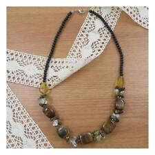 """19"""" Tigers Eye Natural Stone Necklace Chunky Healing Festival Statement Yoga 194"""
