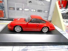 Porsche 911 964 Carrera 4 Coupe 1991 Red rouge ATLAS IXO 1:43