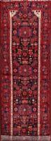 "Geometric Tribal 16 ft Long Runner Nahavand Hamedan Wool Rug 16' 0 x 3' 7"""