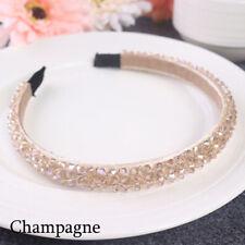 Bridal Children Crown Headwear Ornament Crystal Headband Rhinestone Hair Band Champagne