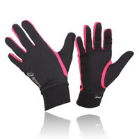 Asics Men Women Black Pink Breathable Lightweight Running Training Basic Gloves