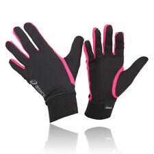 Asics Men Women Black Pink Breathable Lightweight Running Training Basic Gloves