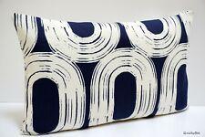 "Scion Wabi Sabi LOOP Ink Blue & White Cushion Cover 12"" x 20"""