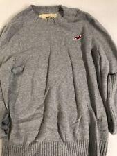 Hollister Mens Sweater Gray/ XL