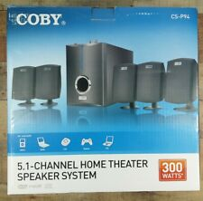 Coby CSP-94 5.1 Channel Home Theater Speaker System with Subwoofer