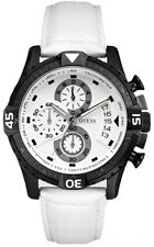 NEW AUTHENTIC Guess Men's Chronograph White Leather STRAP WATCH U15067G1 ,W/ BOX