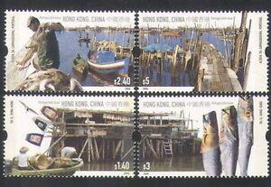 China Hong Kong 2005 Fishing Villages Fish Joint Portugal Stamp 漁村風貌
