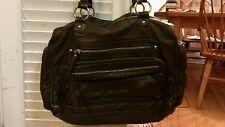 LP/LP Linea Pelle for Target handbag/shoulder bag/purse Dark Brown Pebbled Nice!