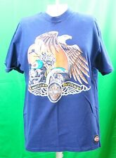 Vintage Blue Harley Davidson House of Harley Anchorage Alaska Men's T-Shirt
