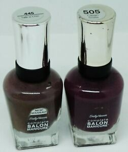 2 Shade Sally Hansen Complete Salon Manicure Nail Polish CLEAN SLATE TALK S CHIC